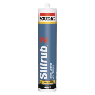 Soudal Silirub 2 Neutral Silicone - 300ml - White