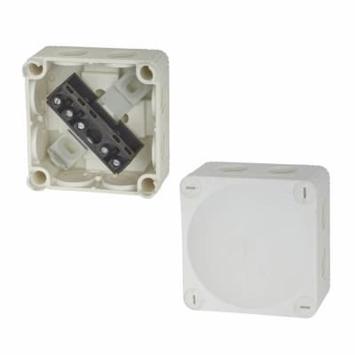Wiska IP66 51mm Connection Box - White