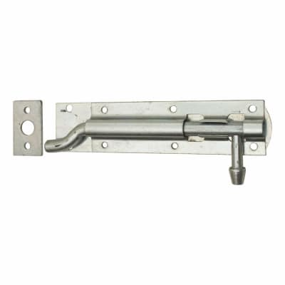 Traditional Tower Bolt - Necked - 150mm - Zinc Plated