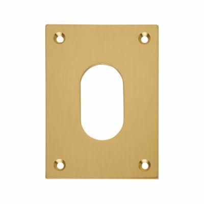 Jumbo Escutcheon - 65.5 x 47.6mm - Oval - Polished Brass