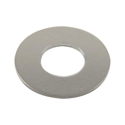Steel Flat Washer - M4 - Bright Zinc Plated - Pack 25