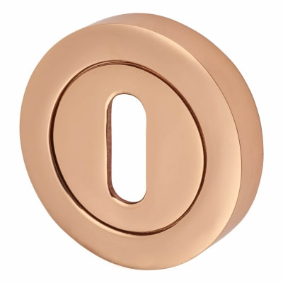 Escutcheon - Keyhole - Polished Copper