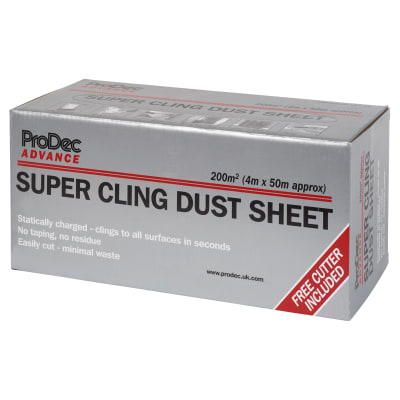 Super Cling Dust Sheet Roll - 200 sqm - 4m x 50m