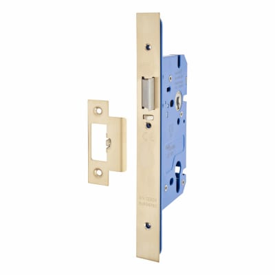 A-Spec Architectural DIN Euro Mortice Nightlatch - 85mm Case - 60mm Backset - PVD Brass