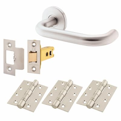 Altro 16mm Return to Door Lever Handle on Rose - Door Kit - 304 Satin Stainless Steel