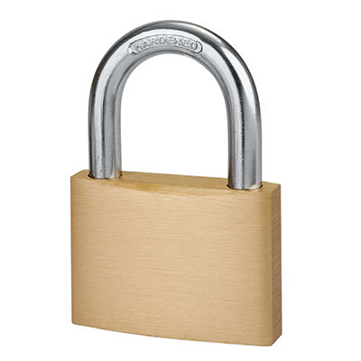 Solid Brass Padlock - 60mm - Keyed Alike Key No 2
