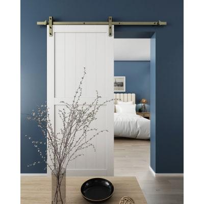 KLUG Barn Strap Sliding Door Gear with 80-100kg Soft Open/Close - Antique Brass