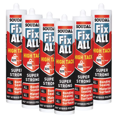 Soudal Fix All High Tack - 290ml - White - Promo 6 Pack