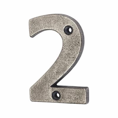 Olde Forge 78mm Numeral - 2 - Pewter