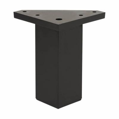 ABS Plastic Furniture Leg - Square - 40 x 40 x 100mm - Black