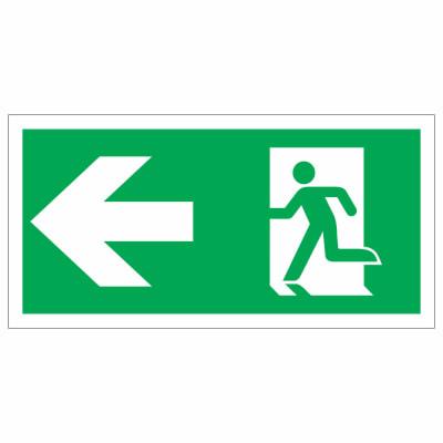 Running Man Left - 150 x 300mm - Rigid Plastic