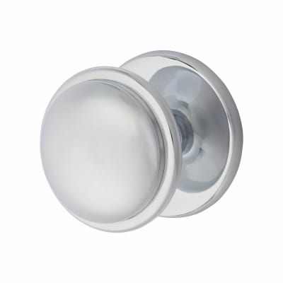 Morello Round Centre Door Knob - 80mm - Polished Chrome