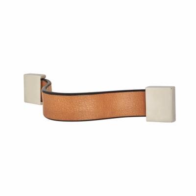 Leather Cabinet Handle - Strap - Plain - Natural