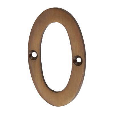 Jedo 75mm Numeral - 0 - Dark Bronze