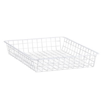 elfa® Shallow Storage Basket - 527 x 427 x 85mm - White