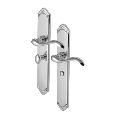 M Marcus Lara Door Handle - Bathroom Set - Polished Chrome
