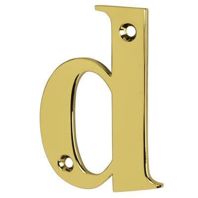 76mm Letter - D - Gold