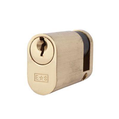 Eurospec MP5 - Oval Single - 35 + 10mm - Polished Brass  - Keyed Alike