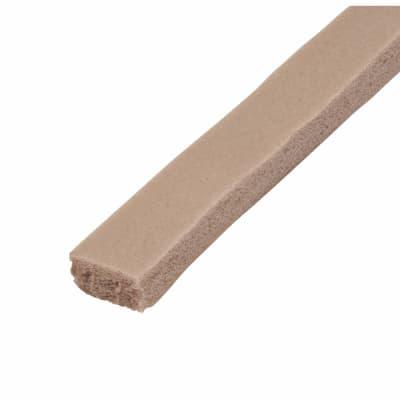 Stormguard Rubber Foam Weatherstrip - 3500mm - Brown