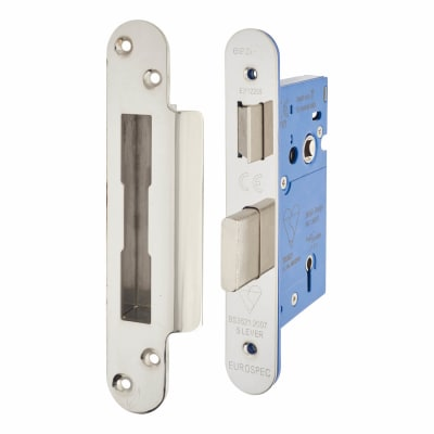 A-Spec BS3621 5 Lever Sashlock - 65mm Case - 44mm Backset - Radius - Polished Stainless