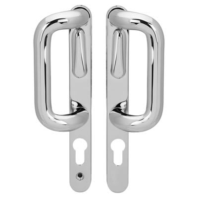 Hoppe Patio Handle - uPVC/Timber  - Left Hand - Polished Chrome