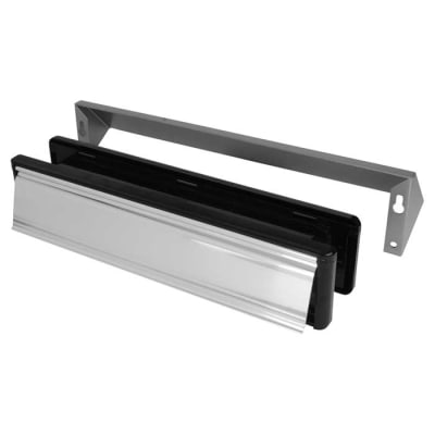 Yale® Security letterplate 340 x 70mm- Polished Chrome
