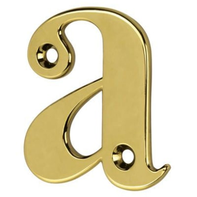 76mm Letter - A - Gold