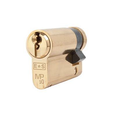 Eurospec MP10 - Euro Single Cylinder - 35 + 10mm - Polished Brass  - Master Keyed