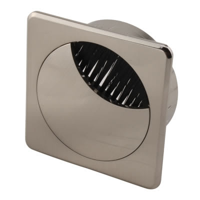 ION Square Cable Tidy - 60mm - Brushed Nickel