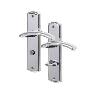 M Marcus Centaur Door Handle - Bathroom Set - Polished Chrome