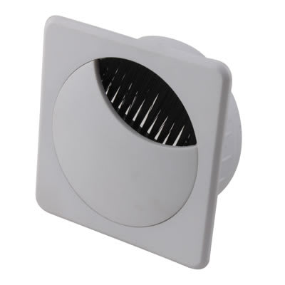 ION Square Cable Tidy - 60mm - White - Pack 10