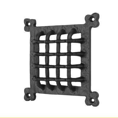 Elden Grille Cover - 171 x 171mm - Antique Black Iron