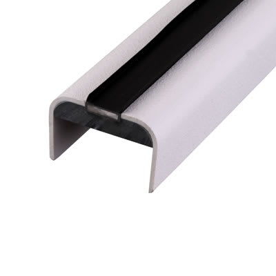 Lorient 44mm Intumescent Door Edge Protector - Falmouth - White Strip