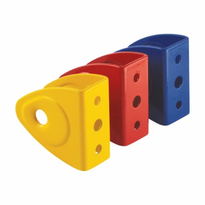 Wall/Panel Bracket - Childsplay (Coloured) - 19-21mm Panels - Red/Yellow/Blue - Pack 3
