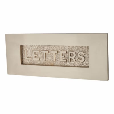 Morello Letter Plate - 254 x 100mm - Satin Nickel