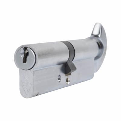 ERA 1 Star Kitemarked Cylinder - Euro Thumbturn - Length 100mm - 50[k]* + 50mm - Nickel