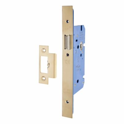 A-Spec Architectural DIN Latch - 85mm Case - 60mm Backset - PVD Brass