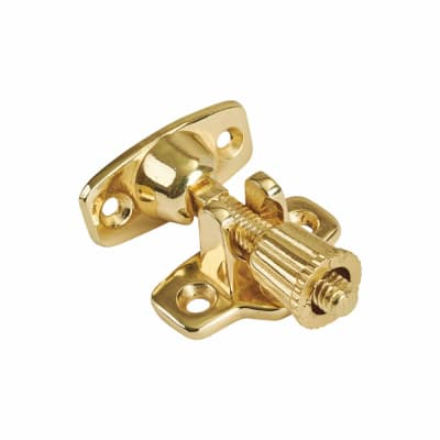 Budget Brighton Screw Pattern Sash Fastener - 52mm - Brass Plated