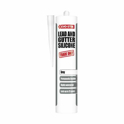 Evo-Stik Lead & Gutter Silicone - 290ml - Grey