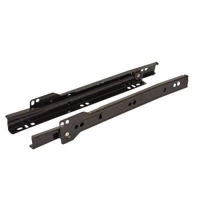 Motion Base Mounted Drawer Runner - Single Extension - 400mm - Black