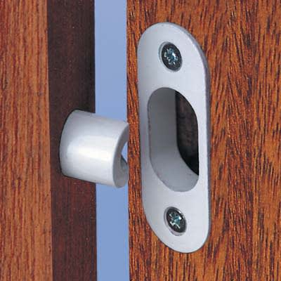 Yale® WS12 High Security Hinge Bolt - White - Pack 2