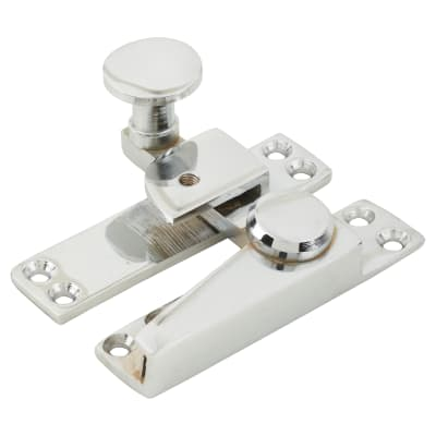 Heavy Duty Quadrant Straight Arm Locking Fastener - 70mm - Polished Chrome