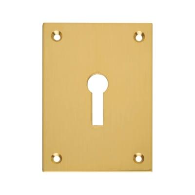 Jumbo Escutcheon - 65.5 x 47.6mm - Keyhole - Polished Brass