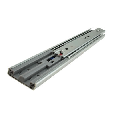 Motion 45.5mm Ball Bearing Drawer Runner - Soft Close - Double Extension - 400mm - 50 Pairs  - Zinc