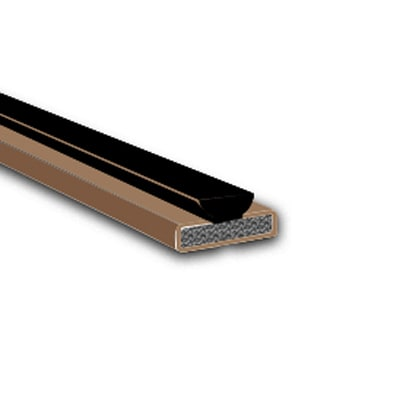 Fire & Smoke Intumescent Strip - 25 x 4 x 2100mm with Brush Pile - Brown - Pack 5