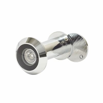 Wide Angle 200 Degree Door Viewer - Door Thickness 35-60mm - Polished Chrome