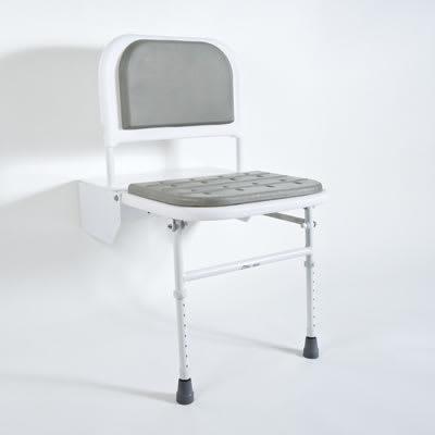 Nymas Doc M Compliant Shower Seat - Grey Padding