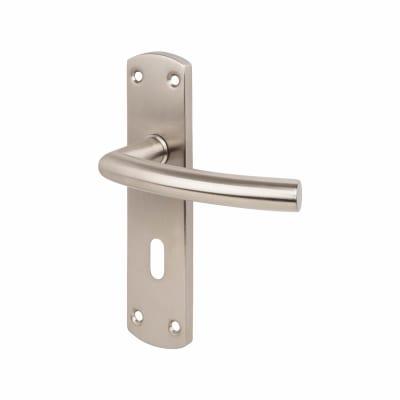 Steelworx CSL Arched Door Handle - Lock Set - Satin Stainless Steel
