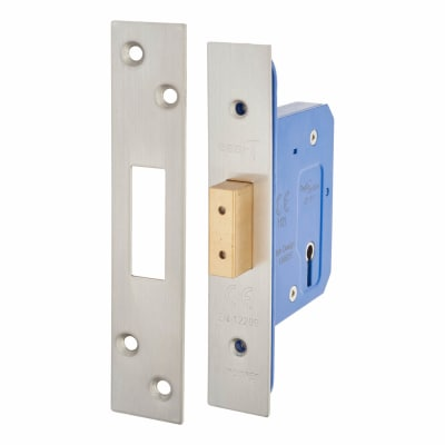 A-Spec Architectural 3 Lever Deadlock - 65mm Case - 44mm Backset - Satin Stainless