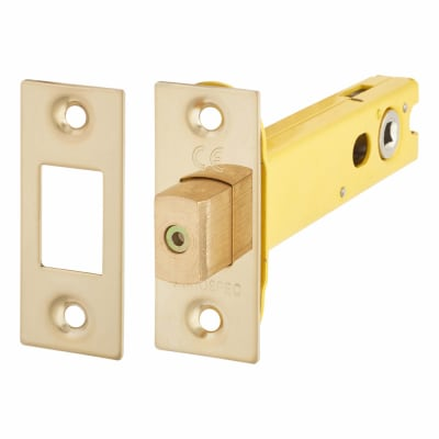 Altro 5mm Tubular Bathroom Deadbolt - 103mm Case - 82mm Backset - PVD Brass